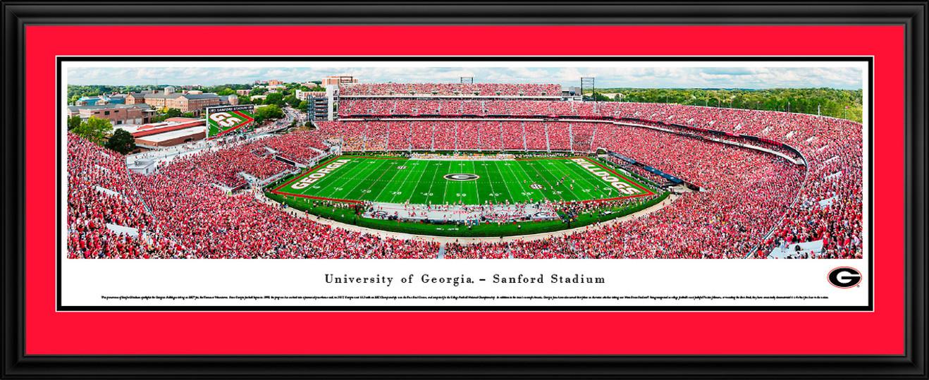 Georgia Bulldogs Football - Sanford Stadium Panoramic Fan Cave Decor