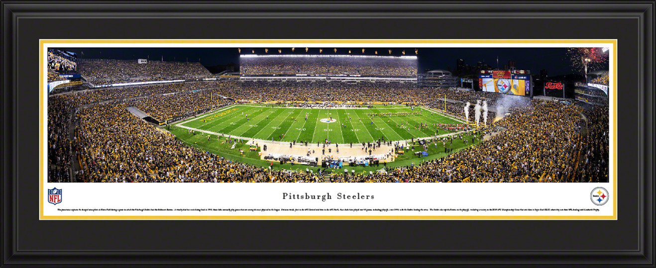 Pittsburgh Steelers Fan Cave Wall Decor - Heinz Field Panoramic Picture