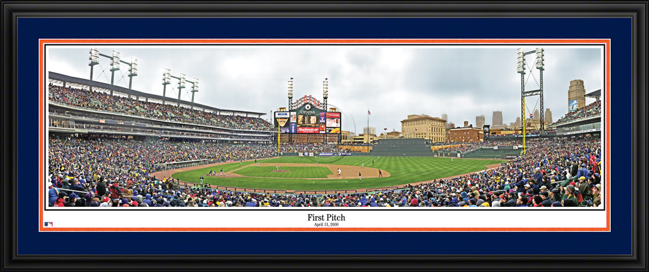 Detroit Tigers Panoramic Picture - Comerica Park MLB Wall Decor