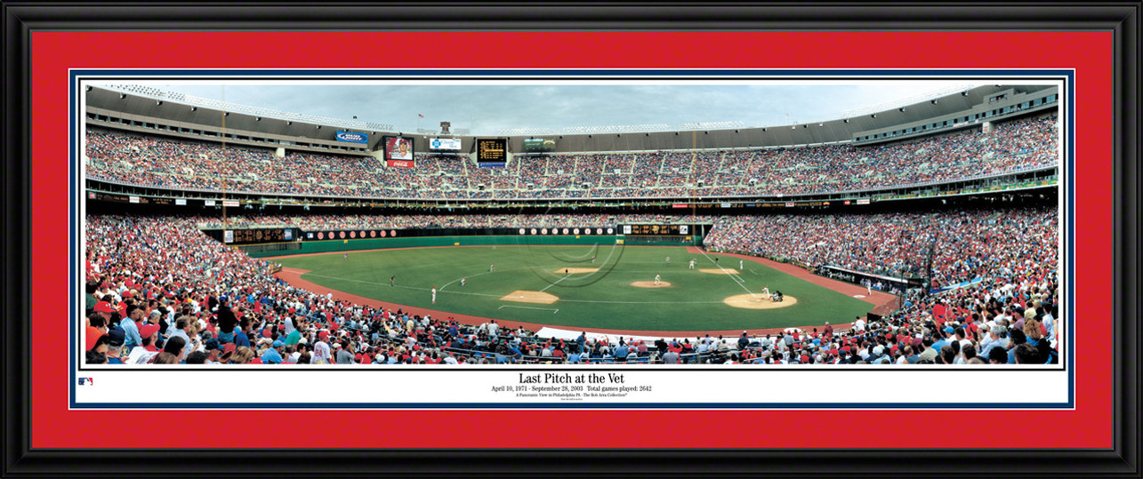 Philadelphia Phillies Panorama - Last Pitch at the Vet - Veterans Stadium MLB Wall Decor