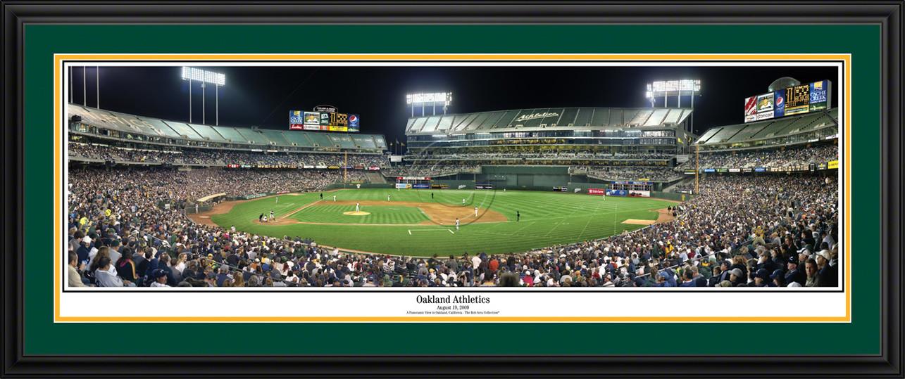 Oakland Athletics Panoramic Picture - Oakland-Alameda County Colisum MLB Wall Decor