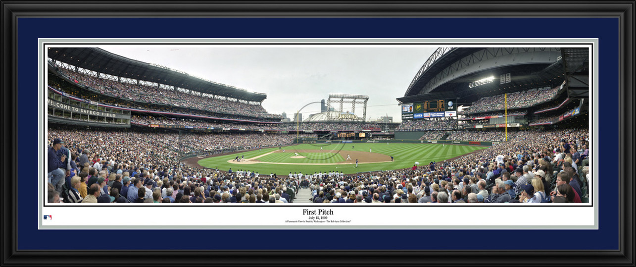 Seattle Mariners Panoramic Picture - First Pitch at Safeco Field MLB Wall Decor