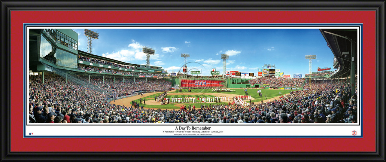 Boston Red Sox Panoramic Picture - 2005 World Series Ring Ceremony - Fenway Park MLB Wall Decor