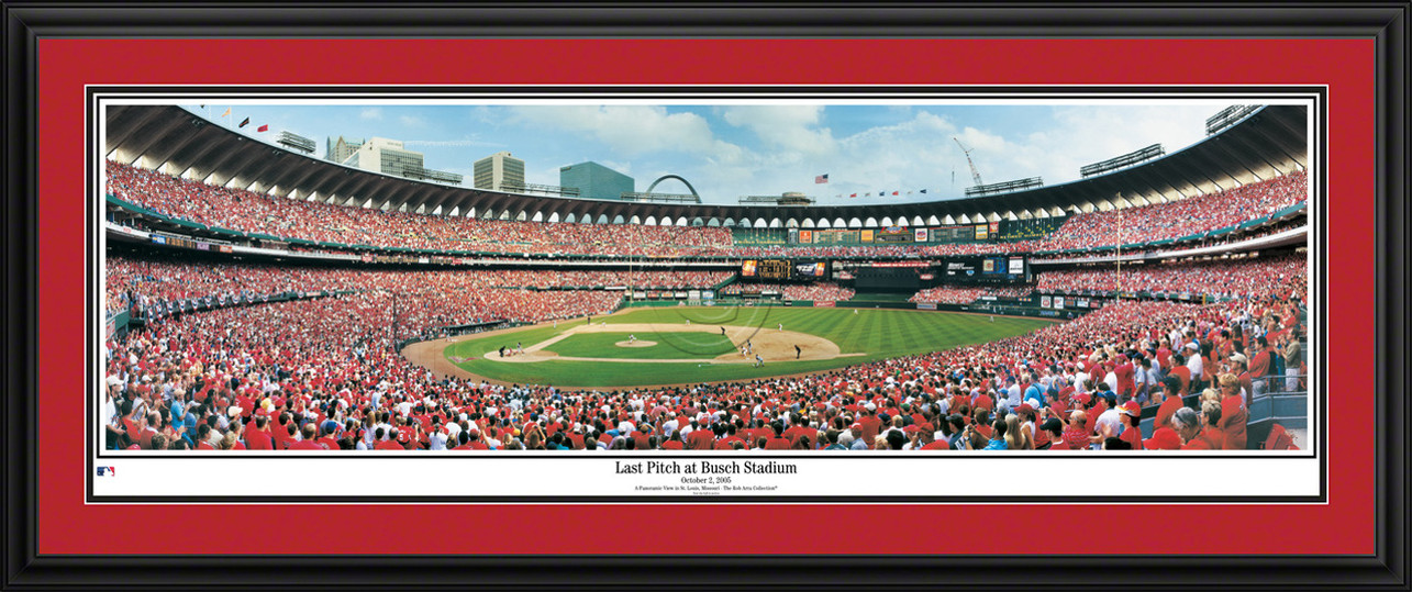St. Louis Cardinals Panoramic Picture - Last Pitch at Busch Stadium - MLB Wall Decor