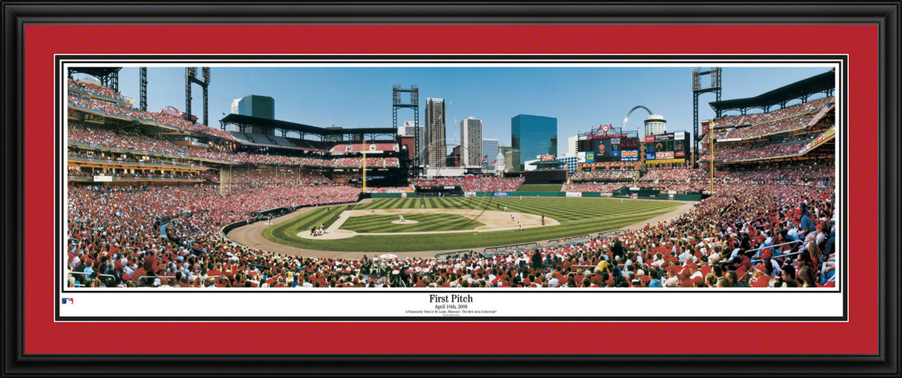 St. Louis Cardinals Panorama - First Pitch at Busch Stadium - MLB Wall Decor