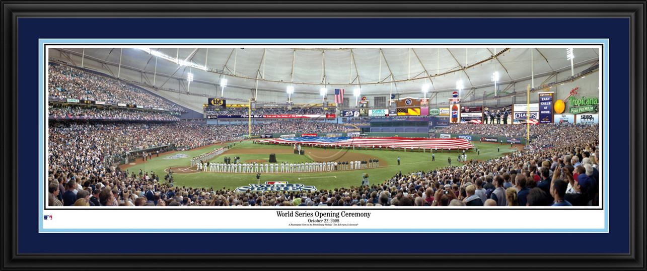 Tampa Bay Rays Panorama - 2008 World Series Opening Ceremony - MLB Wall Decor