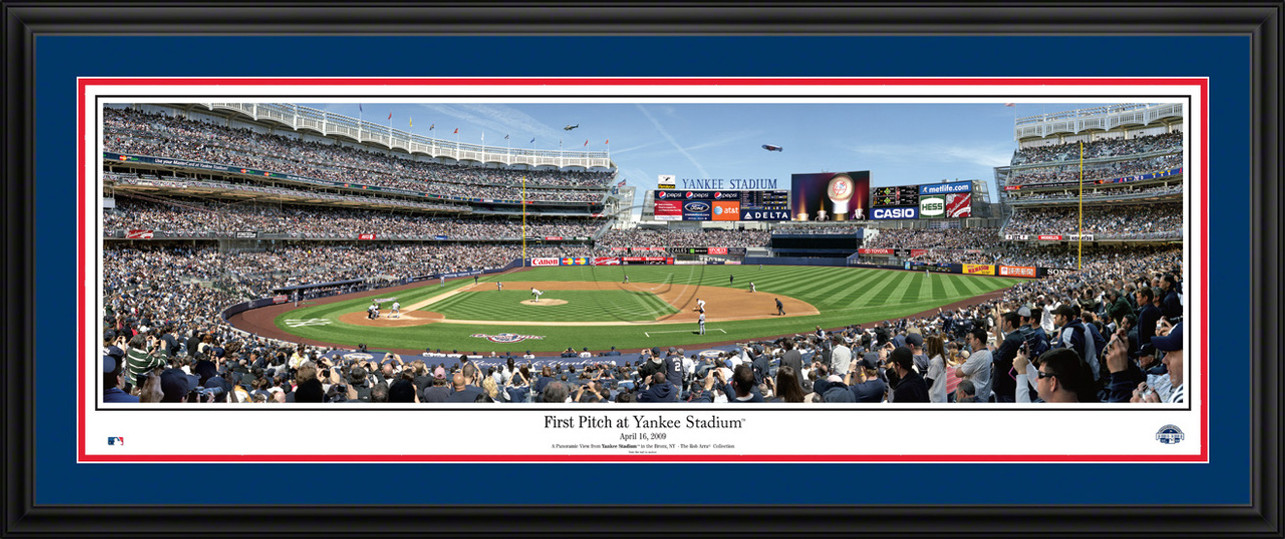 New York Yankees Panoramic Picture - First Pitch at Yankee Stadium - MLB Wall Decor