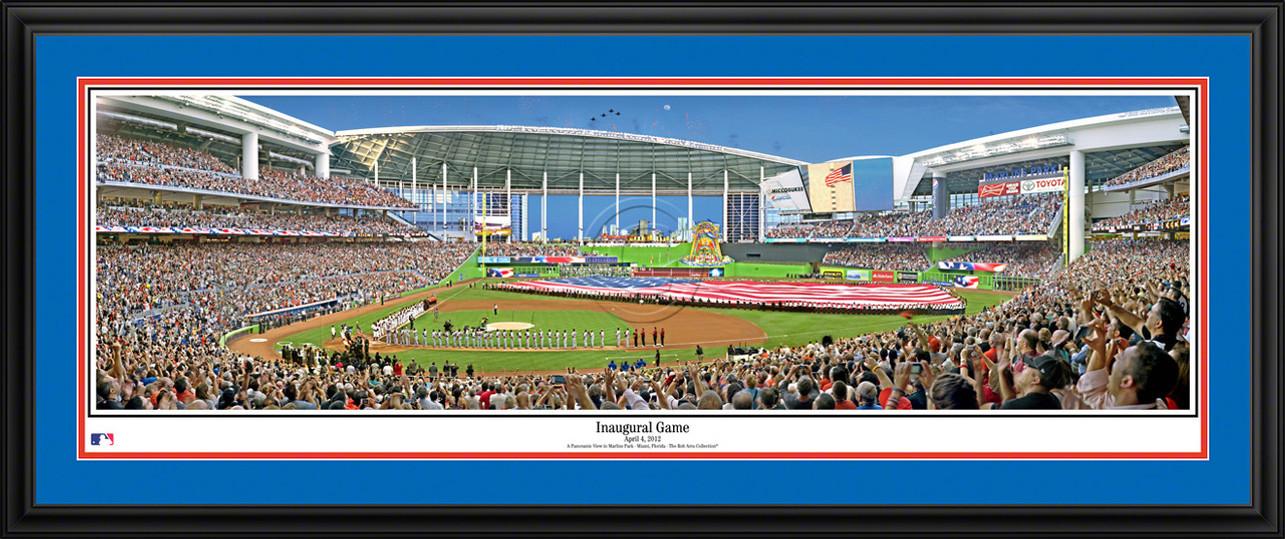 Miami Marlins Panoramic Picture - Inaugural Game MLB Wall Decor