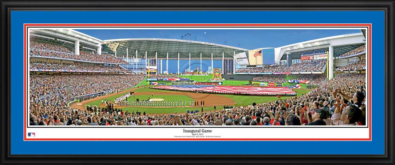Miami Marlins Panoramic Picture - Inaugural Game MLB Wall Decor
