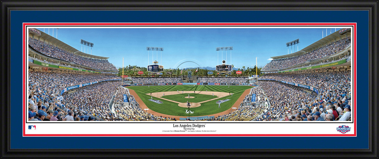 Los Angeles Dodgers Panorama - Dodger Stadium MLB Fan Cave Decor
