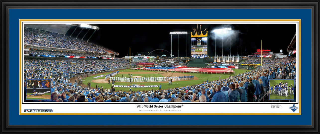 Kansas City Royals Panoramic Picture - 2015 World Series Champions - Kauffman Stadium MLB Wall Decor