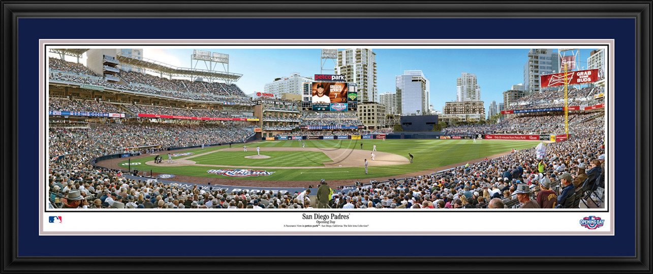 San Diego Padres Panoramic Picture - Petco Park Opening Day MLB Wall Decor