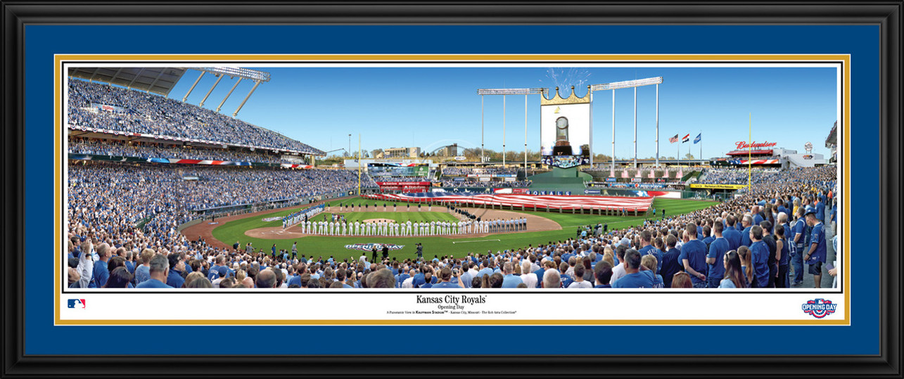 Kansas City Royals Panoramic Picture - Opening Day at Kauffman Stadium - MLB Wall Decor