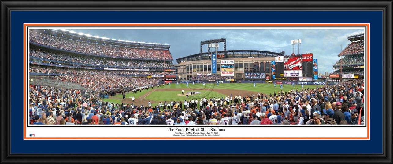 New York Mets Panorama - Final Pitch at Shea Stadium - MLB Wall Decor