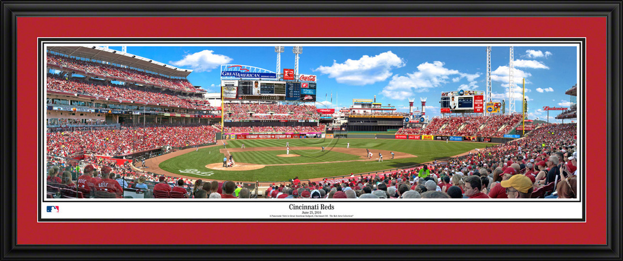Cincinnati Reds Panoramic Picture - Great American Ballpark MLB Wall Decor