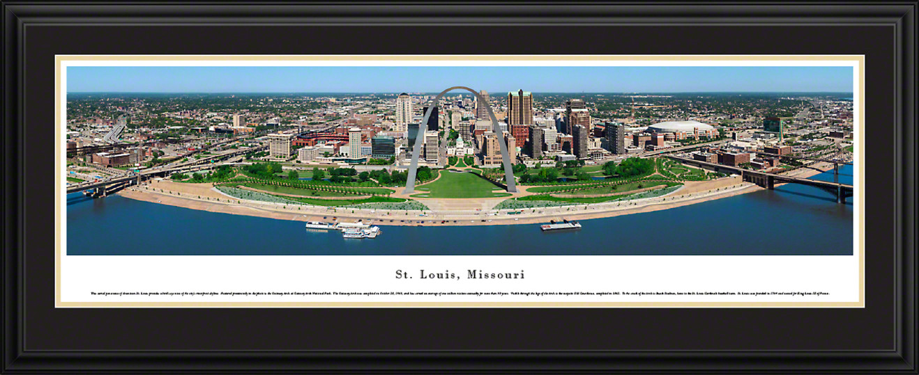 St. Louis, Missouri City Skyline Panoramic Picture