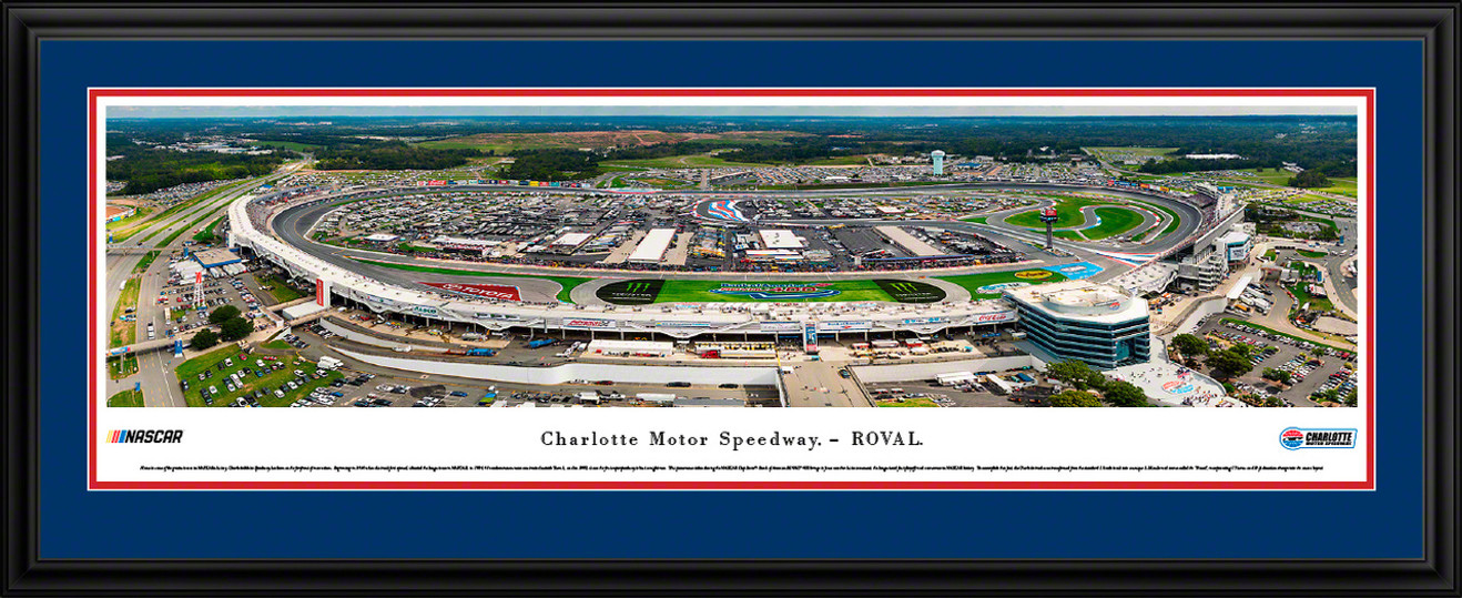 Charlotte Motor Speedway Panoramic Fan Cave Decor