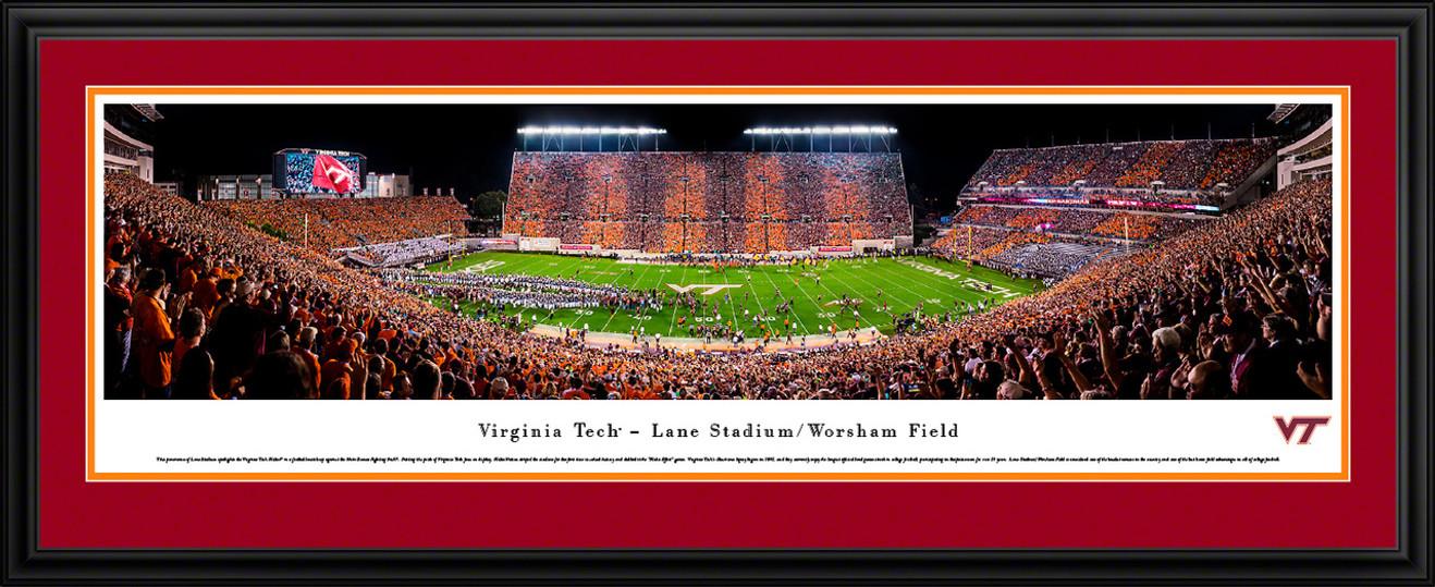 Virginia Tech Hokies Football Poster - Lane Stadium Panorama