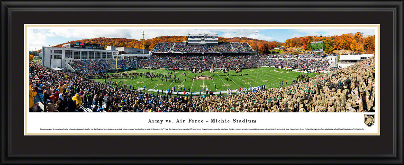 Army Black Knights Football Panoramic Poster - Michie Stadium Fan Cave Decor