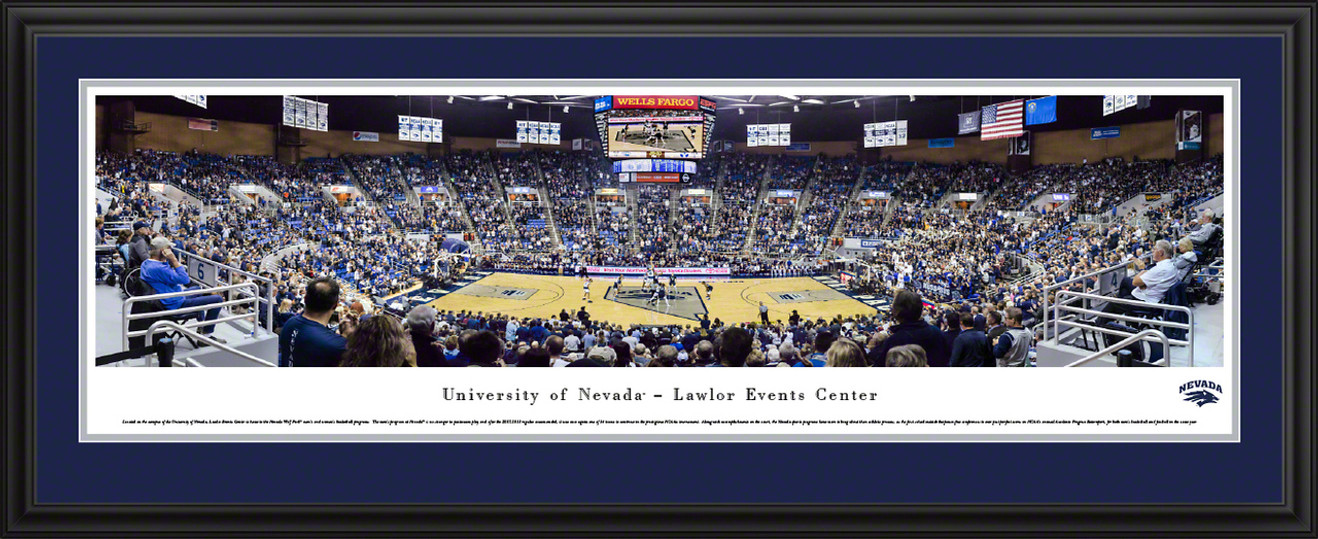 Nevada Wolf Pack Basketball Panoramic Poster