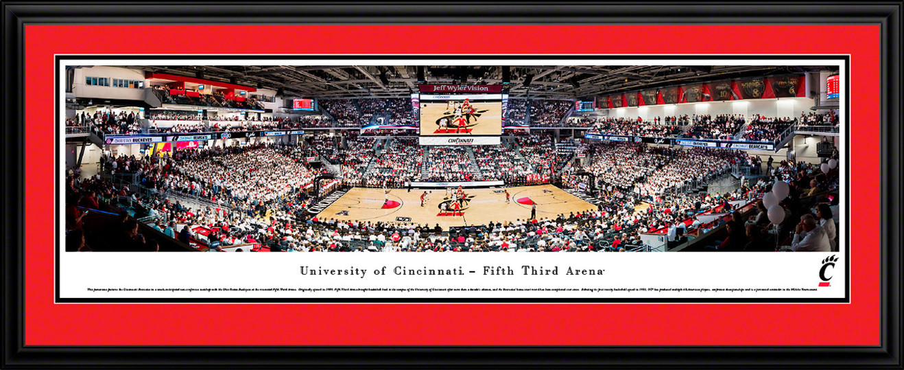 Cincinnati Bearcats Basketball Panoramic Poster - Fifth Third Arena