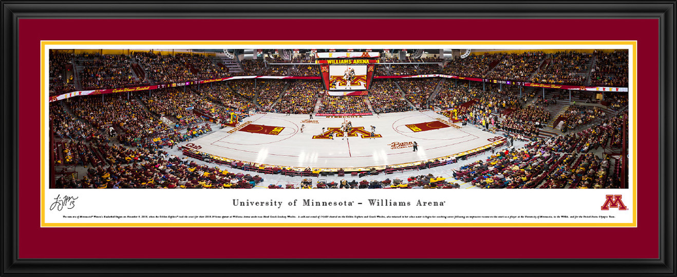Minnesota Golden Gophers Women's Basketball Panoramic Poster