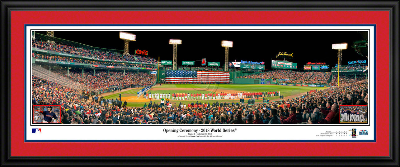Boston Red Sox Panoramic Poster - 2018 World Series Opening Ceremony