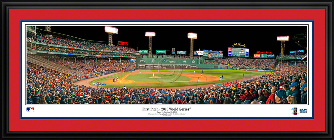 Boston Red Sox 2018 World Series Poster - First Pitch