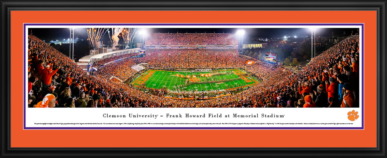 Clemson Tigers Panoramic Football Poster