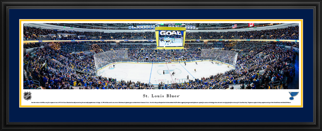 St. Louis Blues Panoramic Poster - Fan Cave Wall Decor