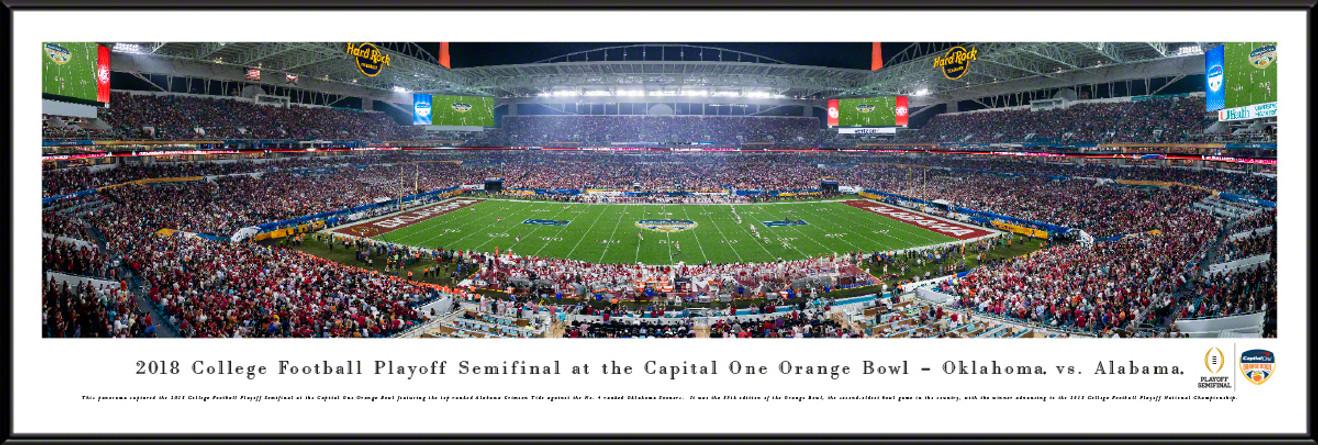 2018 Orange Bowl Game Panoramic Poster - Oklahoma vs. Alabama