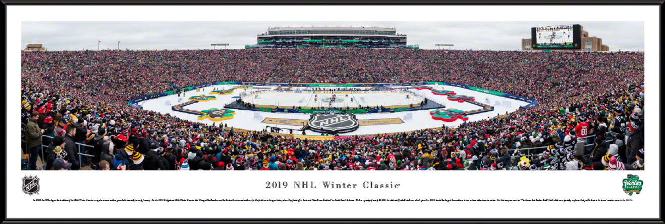 2019 NHL Winter Classic Panoramic Poster - Boston Bruins vs. Chicago Blackhawks