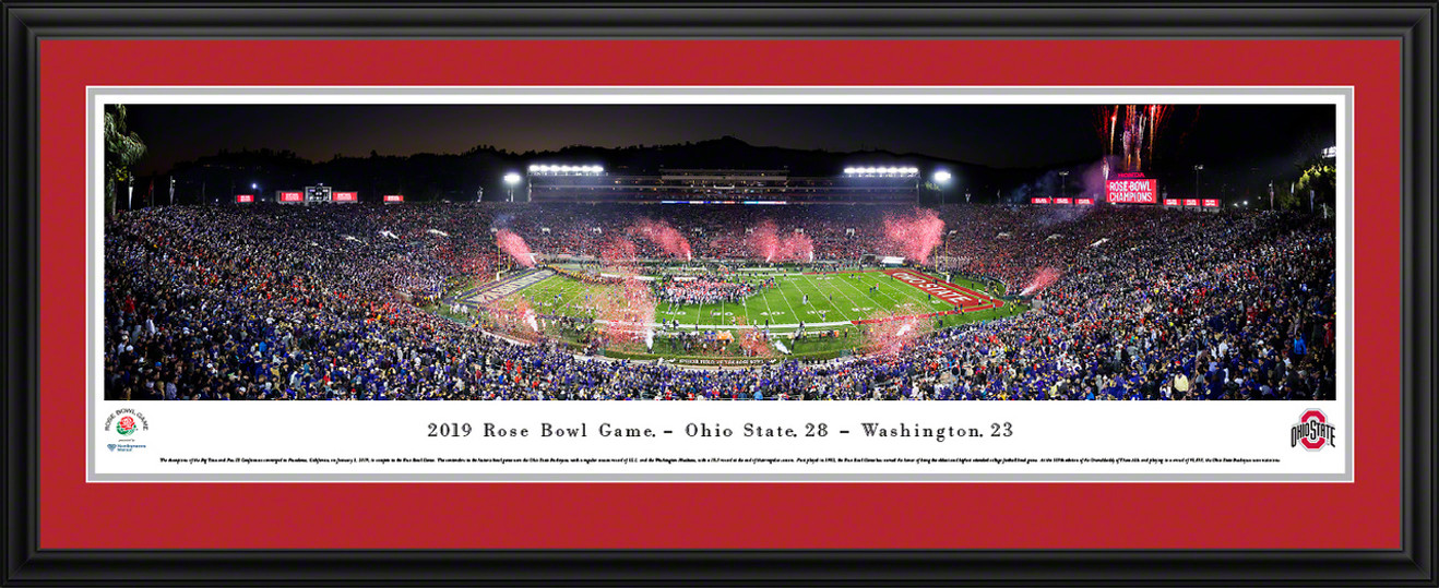 2019 Rose Bowl Game - Victory Celebration Panoramic Poster - Ohio State Buckeyes
