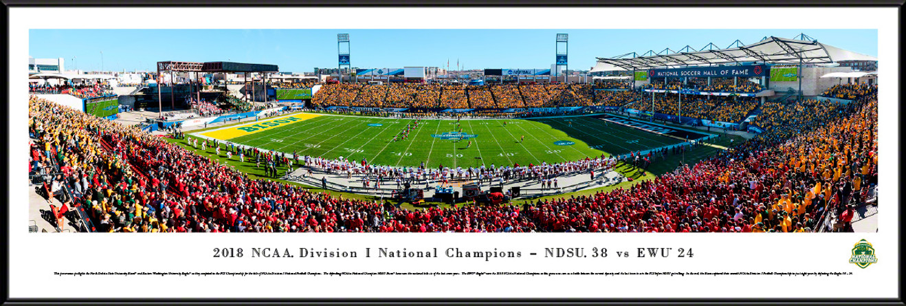 2019 NCAA FCS Football Championship Panoramic Poster - North Dakota State vs. Eastern Washington