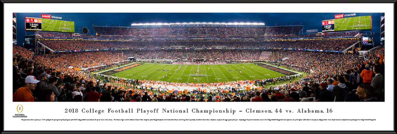 2019 College Football Playoff National Championship Panorama - Kickoff Poster