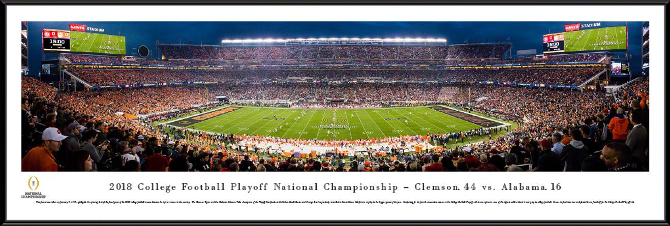 2019 College Football Playoff National Championship Panorama - Kickoff Poster