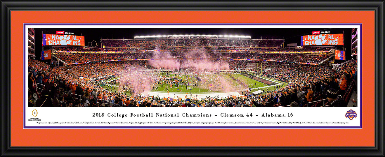 2019 College Football Playoff National Championship Panoramic Poster