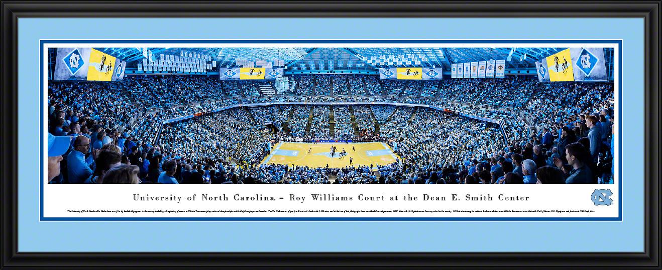 North Carolina Tar Heels Basketball Panoramic Poster - Dean Smith Center