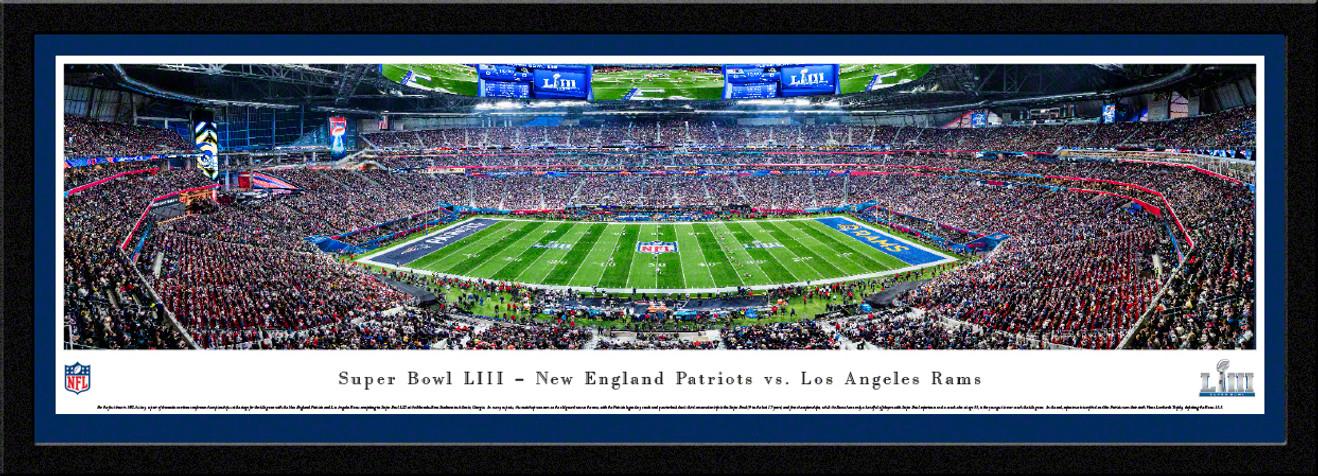 2019 Super Bowl LIII Panoramic Poster - New England Patriots vs. Los Angeles Rams