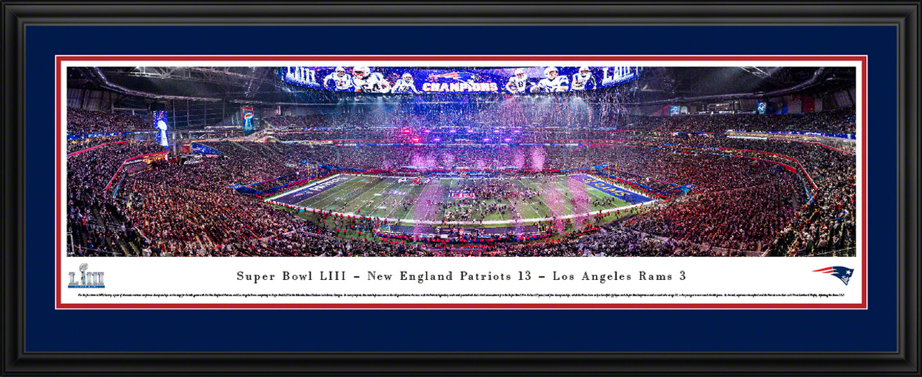2019 Super Bowl LIII Panoramic Poster - New England Patriots Victory