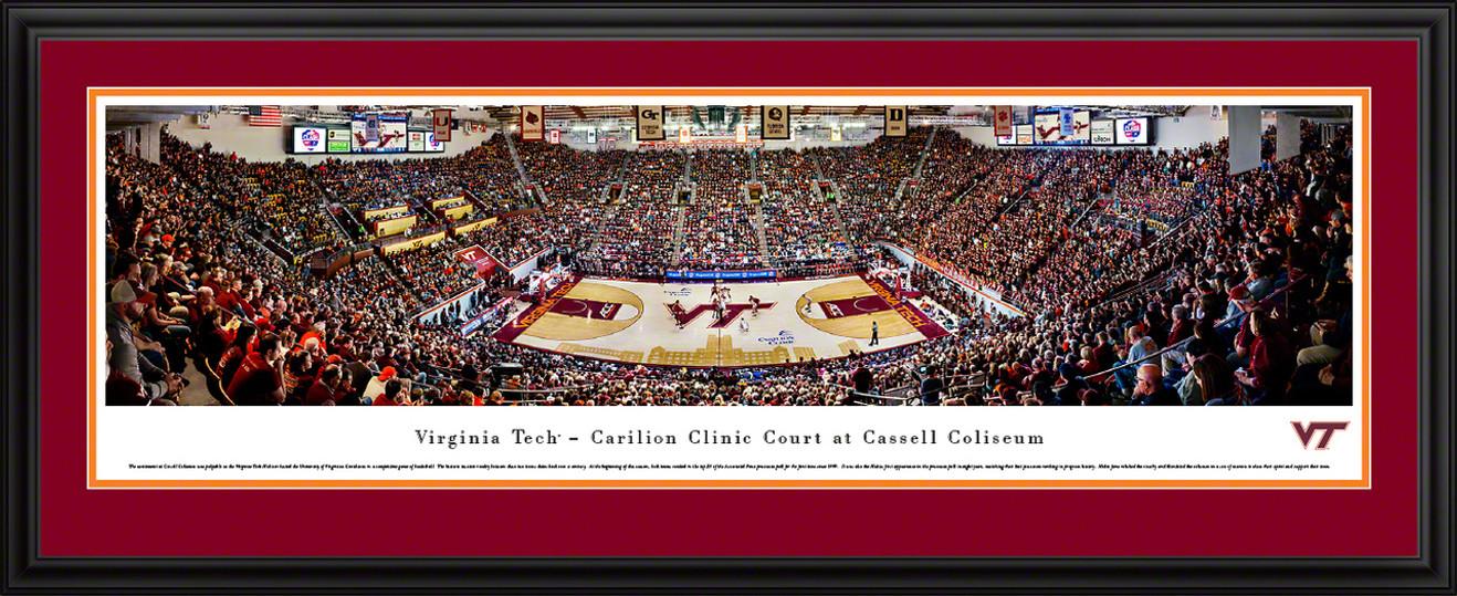 Virginia Tech Hokies Basketball Panoramic Poster - Cassell Coliseum