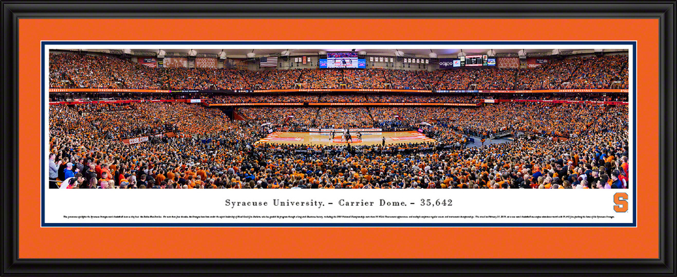 Syracuse Orange Basketball Panoramic Poster - Carrier Dome