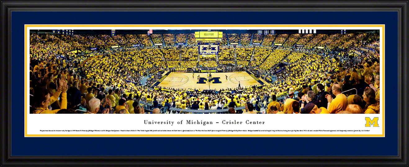 Michigan Wolverines Basketball Panoramic Poster - Crisler Center