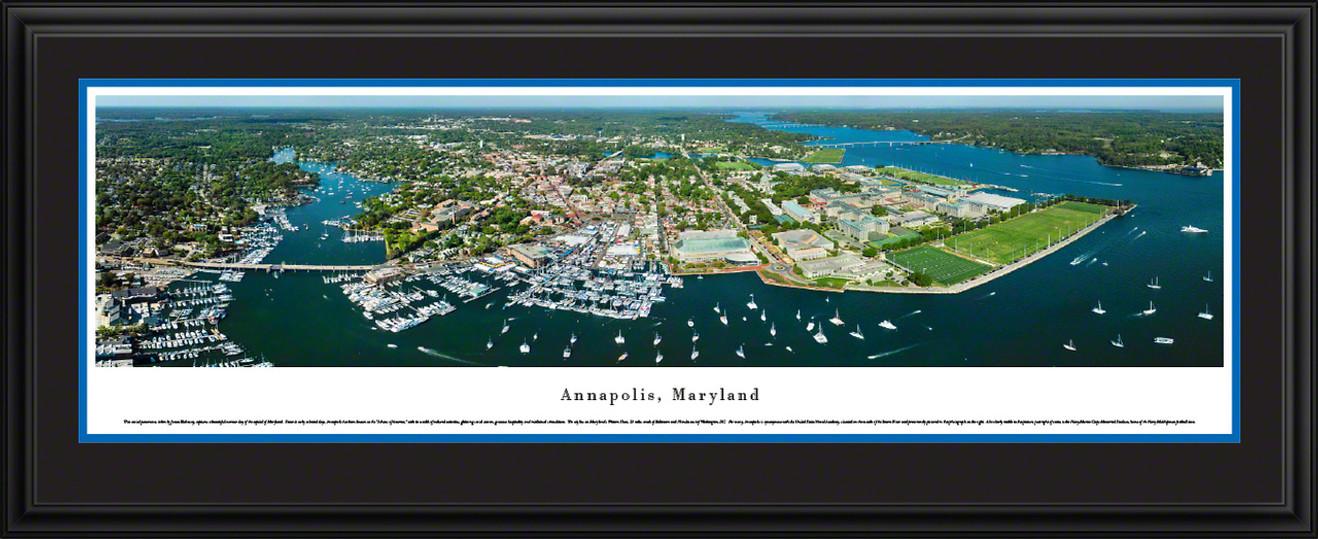 Annapolis, Maryland Panoramic City Skyline Print