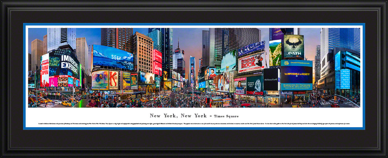 New York Times Square Panoramic Picture - City Skyline Print