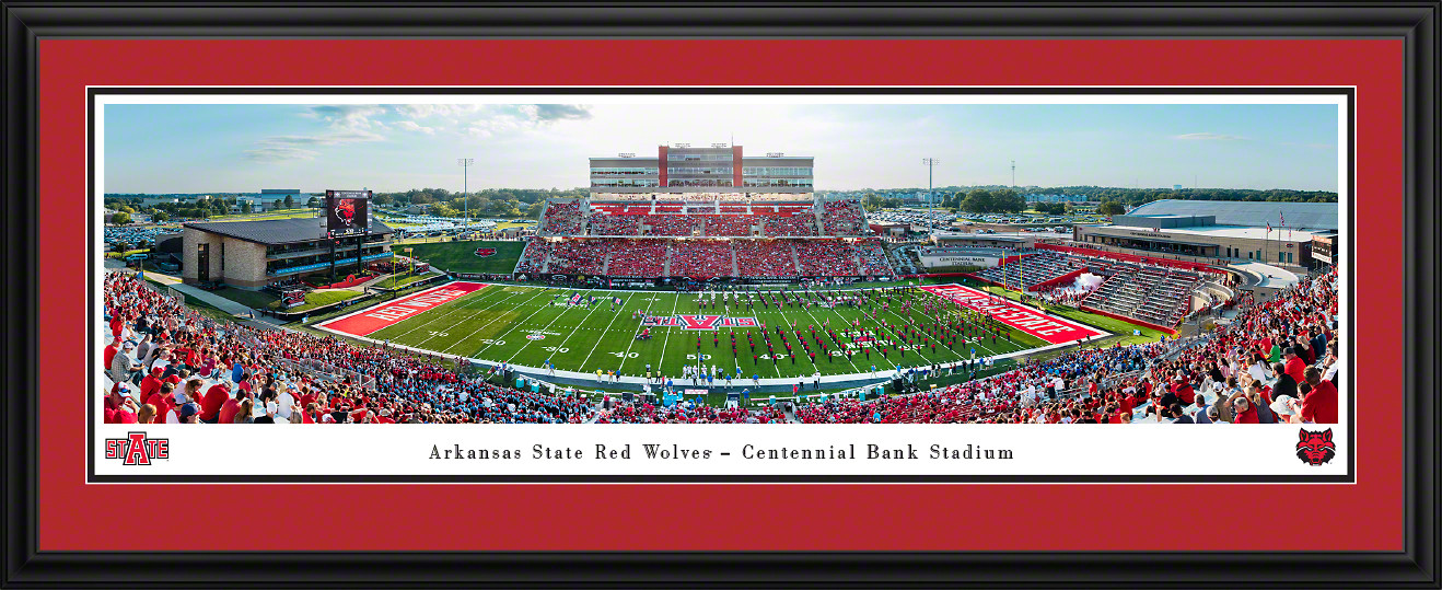 Arkansas State Red Wolves Football Panoramic Poster - Centennial Bank Stadium Picture