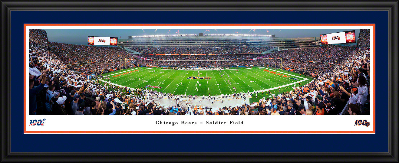 Chicago Bears 100 Seasons Panoramic Poster - Soldier Field Picture