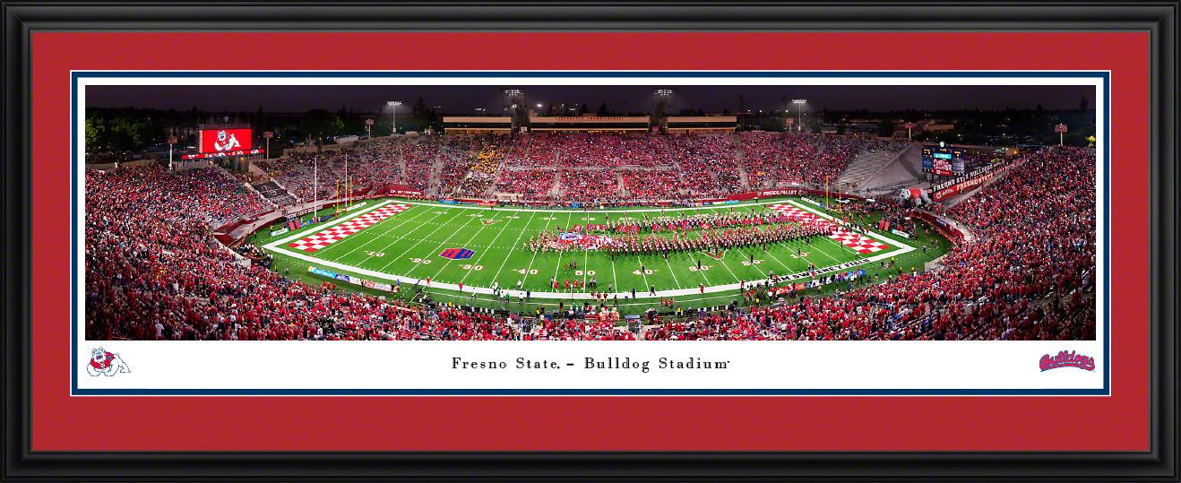 Fresno State Bulldogs Football Panoramic Poster -Bulldog Stadium Picture
