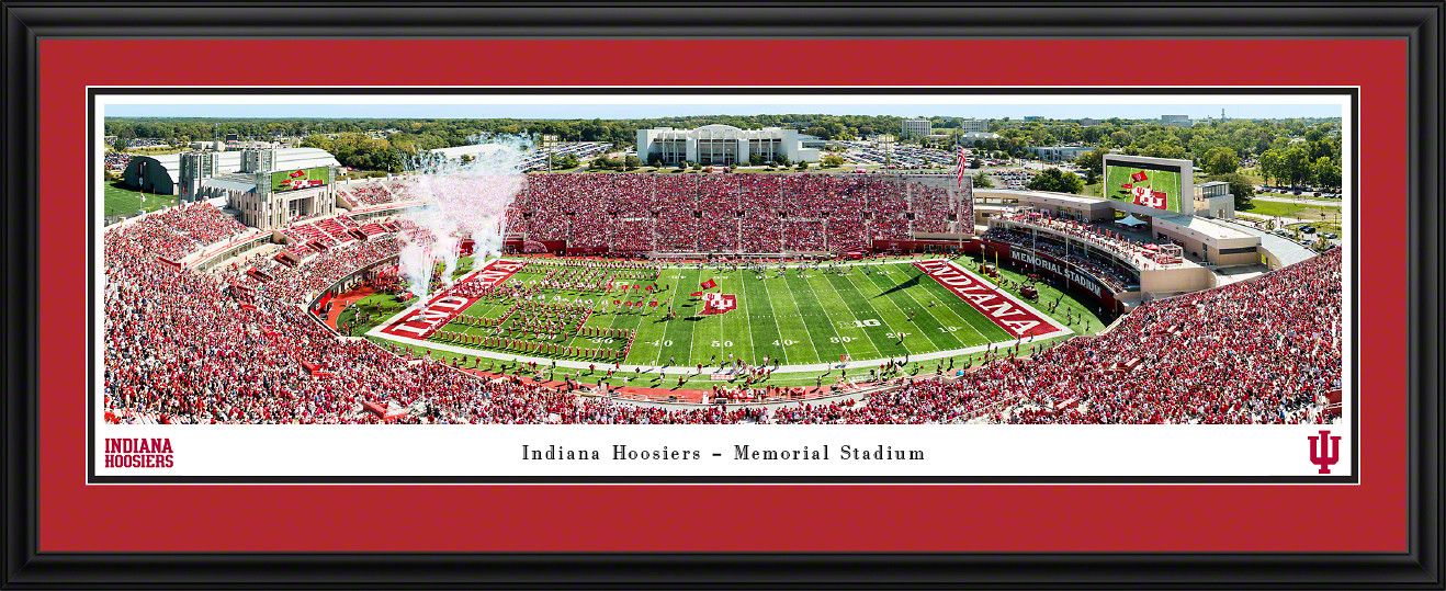Indiana Hoosiers Football Panoramic Poster - Memorial Stadium Picture