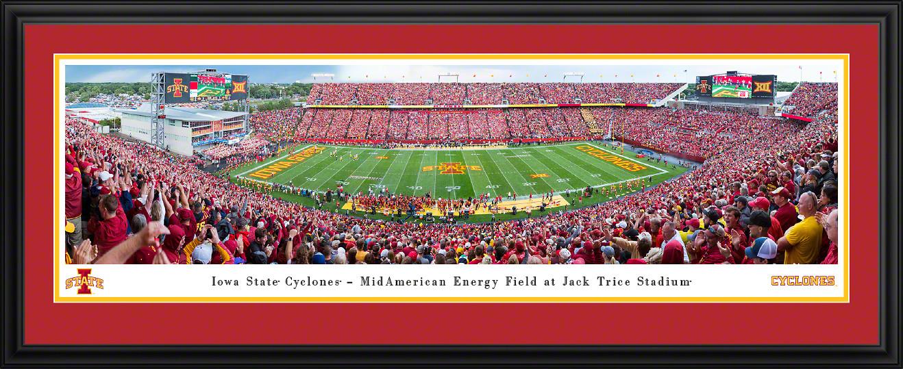 Iowa State Cyclones Football Panoramic Poster - Jack Trice Stadium